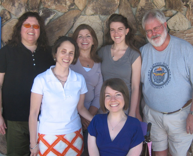 KYEA staff with Janet, Hanna, and Ed Peterson