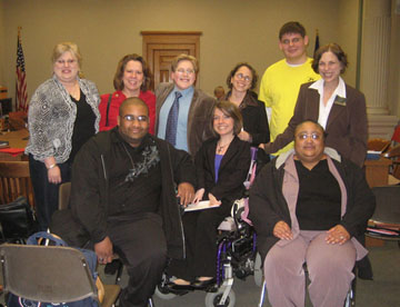 The DAHB taskforce with Senator Jean Schodorf after testimony